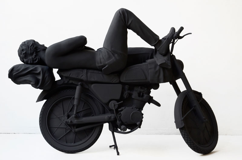 Motocycliste Endormi, 2011, resin cast